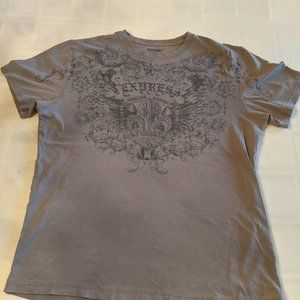 Grey Express T-shirt with design - Men's Size M